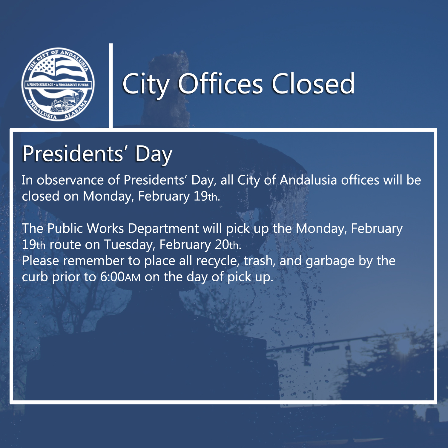 Facebook - City Offices Closed-Presidents Day.jpg