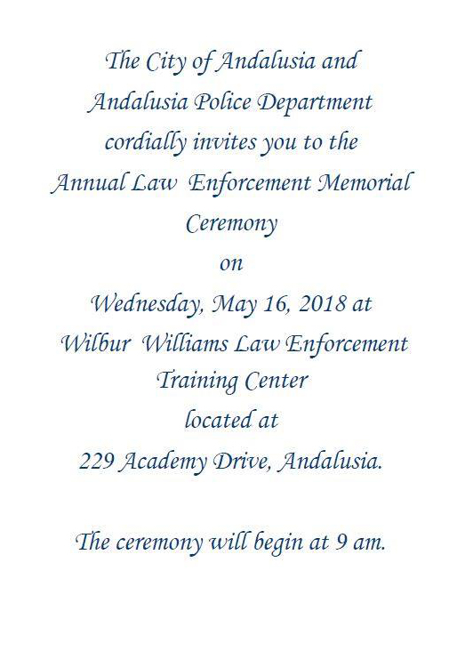 20180516 Annual Law Enforcement Memorial Ceremony