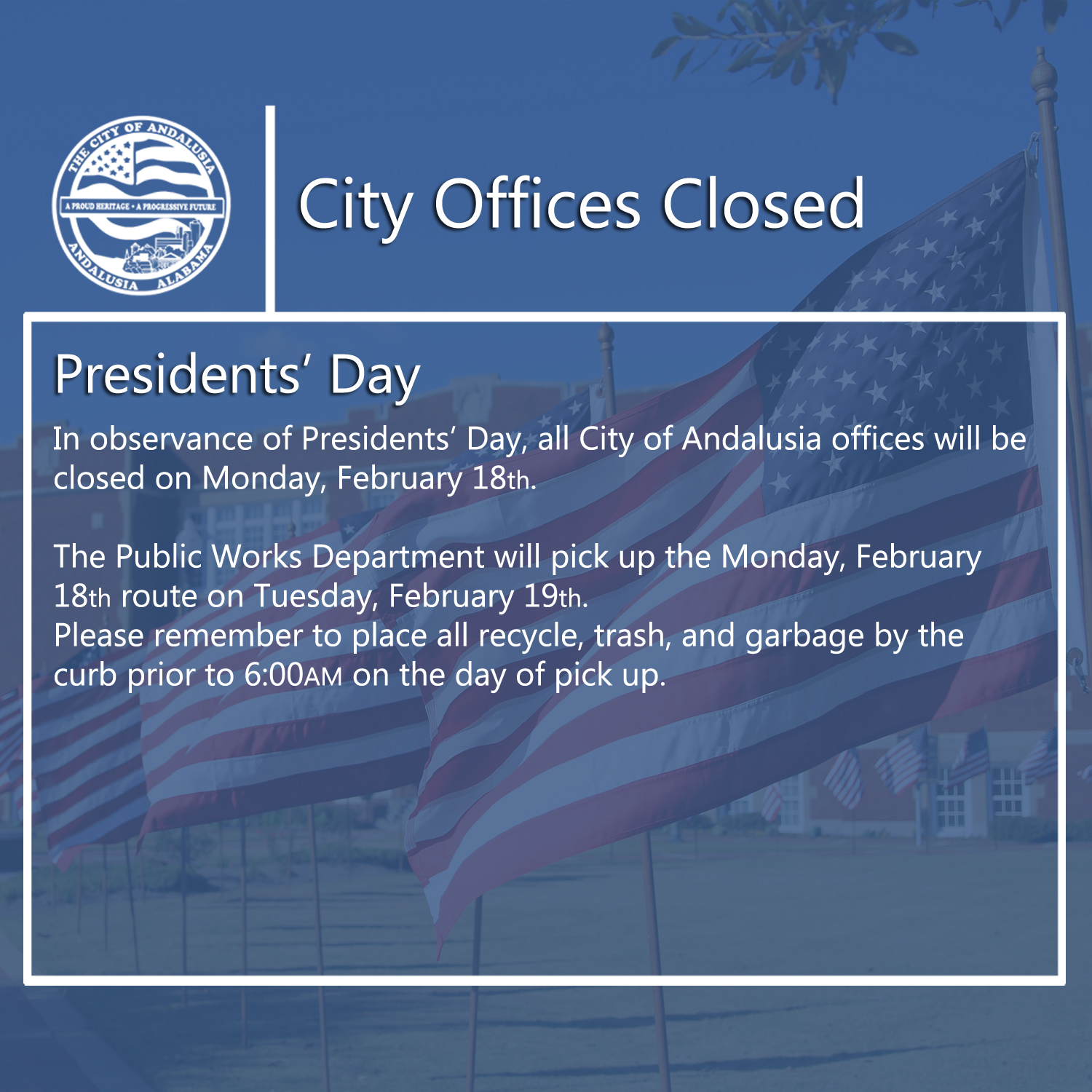 Facebook City Offices Closed Presidents