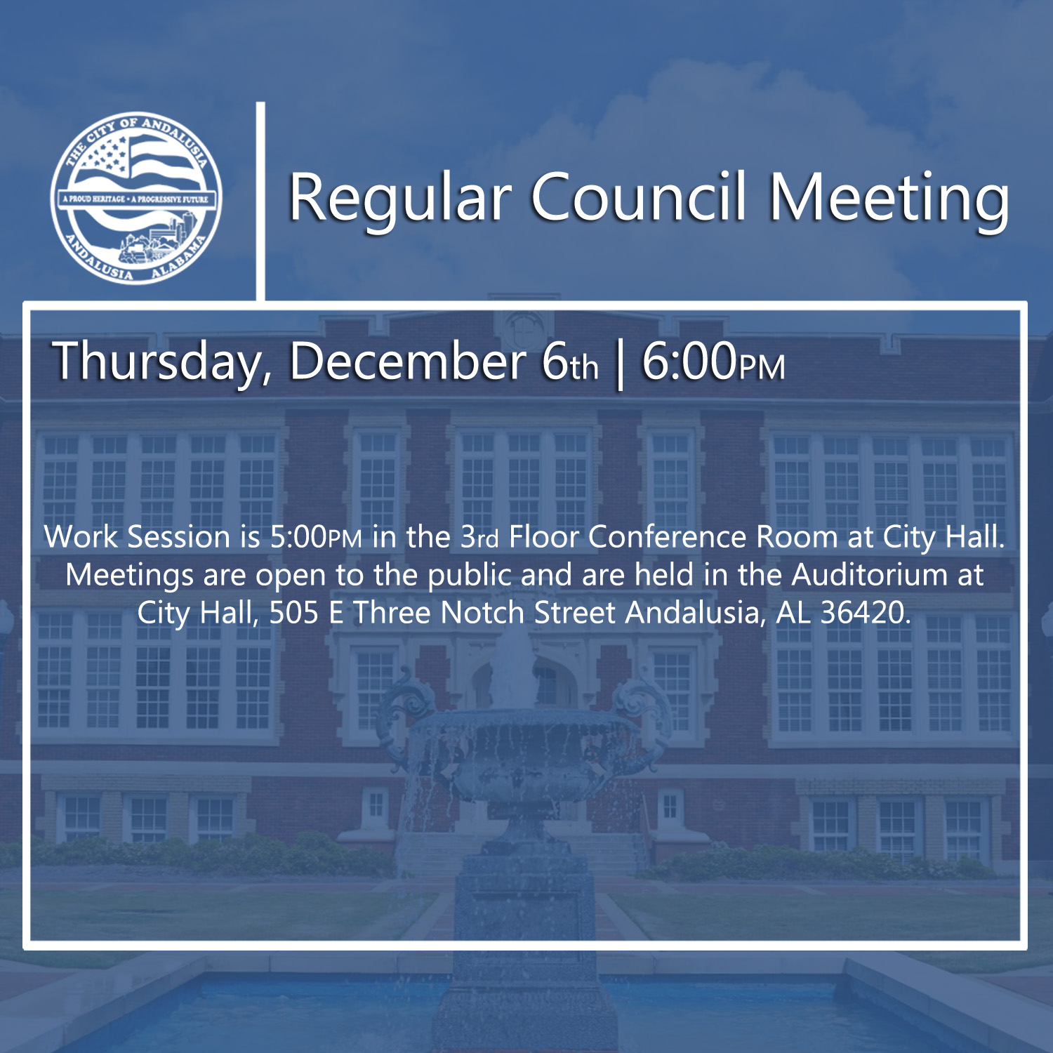 Website Regular Council Meeting December 6