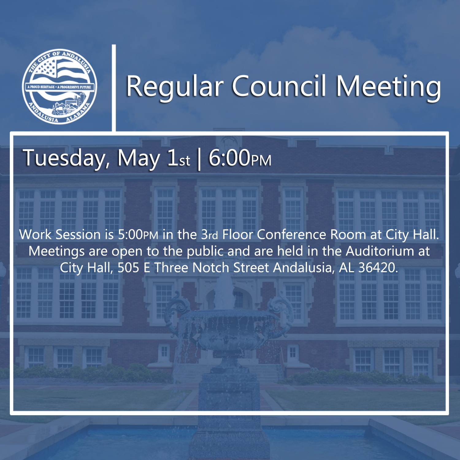 Website Regular Council Meeting May 1