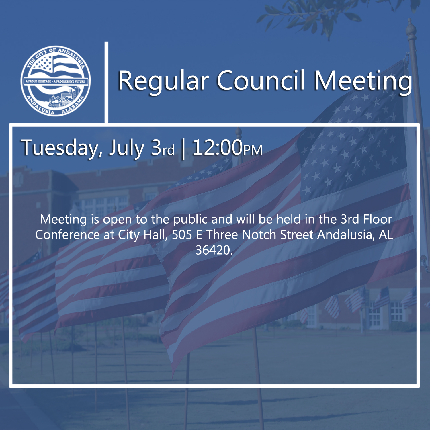 Website Regular Council Meeting July 3rd
